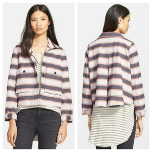 NWT The Great. Striped The Swingy Army Jacket